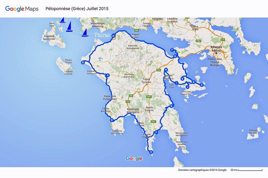 Péloponnèse-Grèce-Juillet-2015-Google-Maps