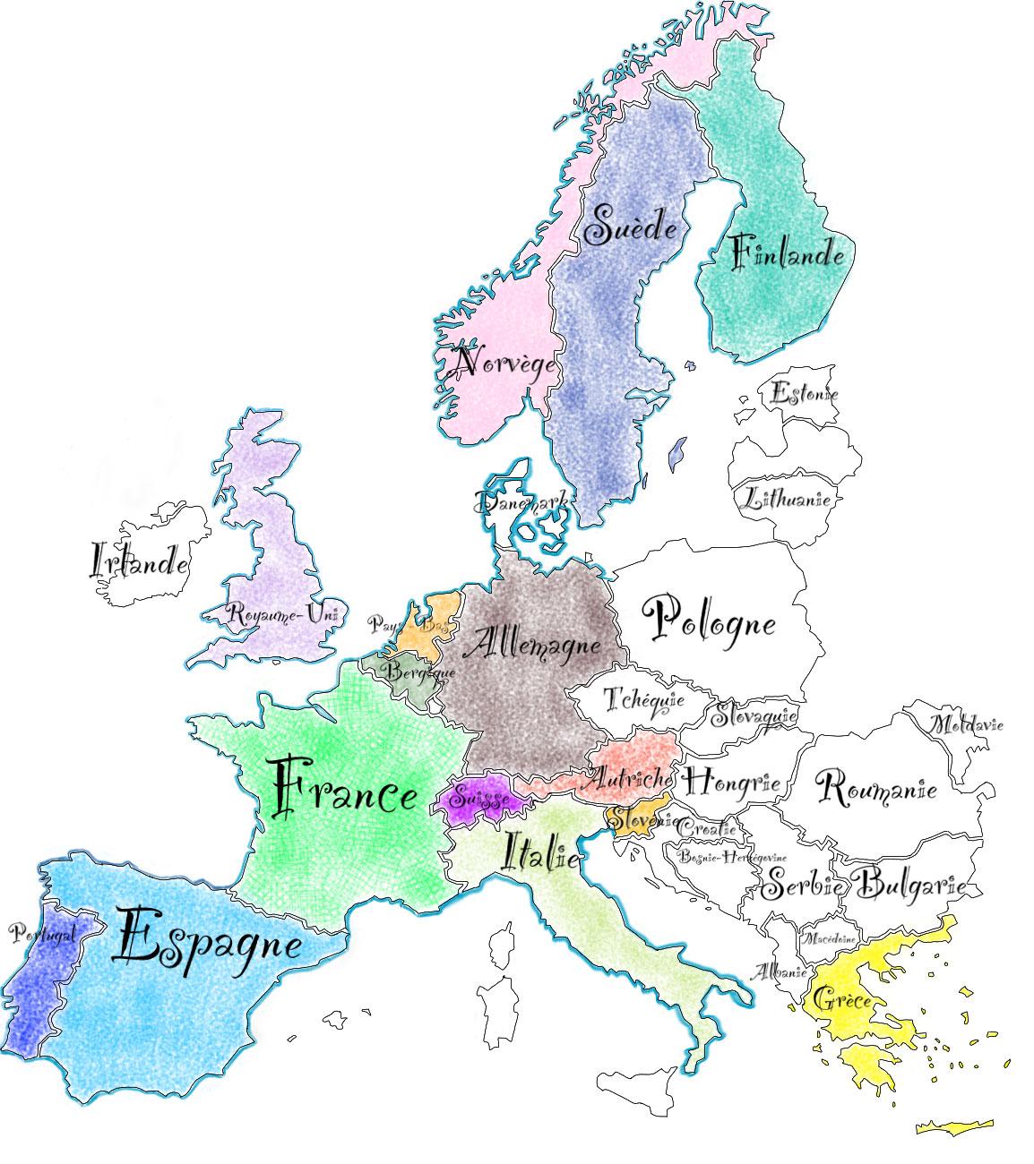 carte-de-l'Europe
